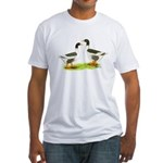 Pomeranian Geese Fitted T-Shirt