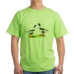 Pomeranian Geese Green T-Shirt