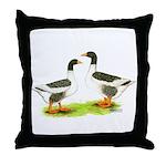 Pomeranian Geese Throw Pillow