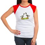 Pomeranian Geese Women's Cap Sleeve T-Shirt