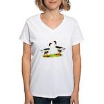 Pomeranian Geese Women's V-Neck T-Shirt
