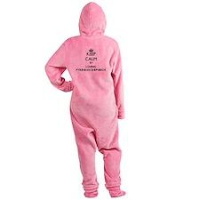 Keep calm by loving Pyrenean Shephe Footed Pajamas