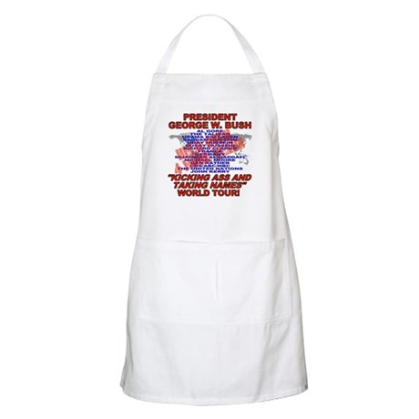 Bush Kicking Ass World Tour BBQ Apron