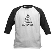 Keep calm by loving Samoyeds Baseball Jersey