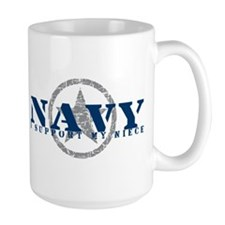 Navy - I Support My Niece Mug