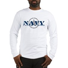 Navy - I Support My Nephew Long Sleeve T-Shirt