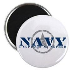 Navy - I Support My Nephew Magnet