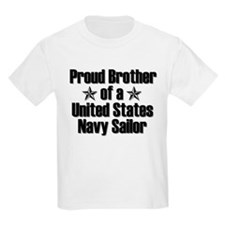 Proud Navy Brother Star T-Shirt