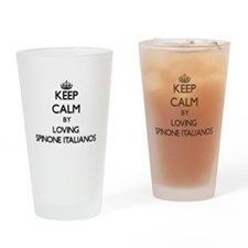 Keep calm by loving Spinone Italian Drinking Glass