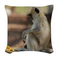 monkey Woven Throw Pillow