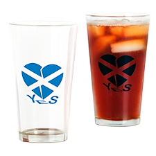Broken Hearted Scotia Pint Drinking Glass