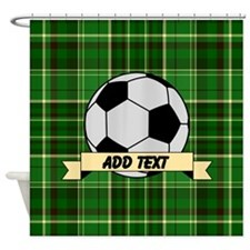 Soccer Pitch Plaid Shower Curtain