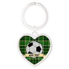 Soccer Pitch Plaid Keychains