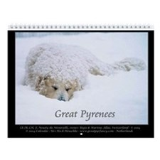 Great Pyrenees Nousty Wall Calendar 2014