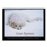 "Great Pyrenees ""Nousty"" #4 Wall Calendar"