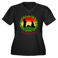 Cute Baby jesus Women's Plus Size V-Neck Dark T-Shirt