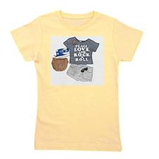 Cute Peace love rock and roll Girl's Tee