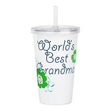 Worlds Best Grandma Acrylic Double-wall Tumbler