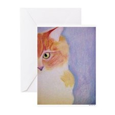 6 Blank Peeking Sonny Cat Greeting Cards