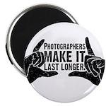 "Photographers Make It Last Lo 2.25"" Magnet (10 pac"