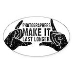Photographers Make It Last Lo Oval Sticker