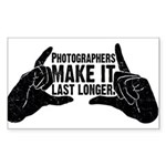 Photographers Make It Last Lo Sticker (Rectangular