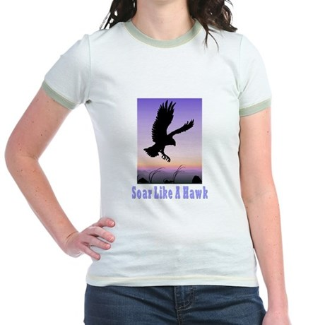 Flying High Soar Like A Hawk Jr. Ringer T-Shirt