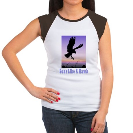Flying High Soar Like A Hawk Women's Cap Sleeve T-