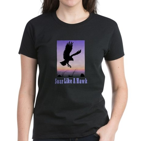 Flying High Soar Like A Hawk Women's Dark T-Shirt