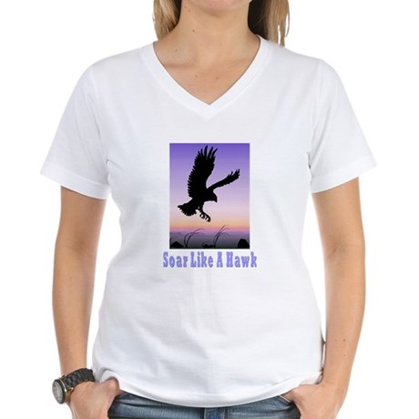 Flying High Soar Like A Hawk Women's V-Neck T-Shir