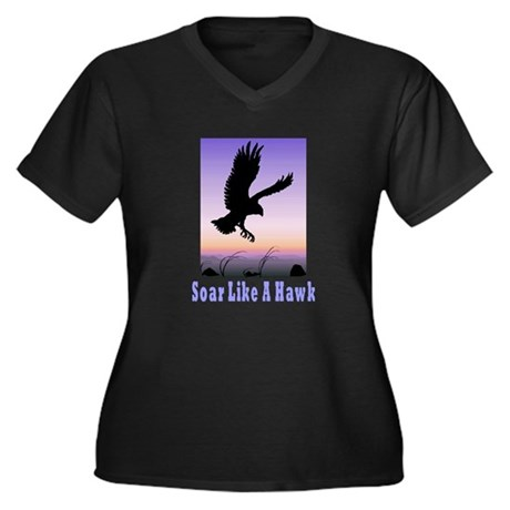 Flying High Soar Like A Hawk Women's Plus Size V-N