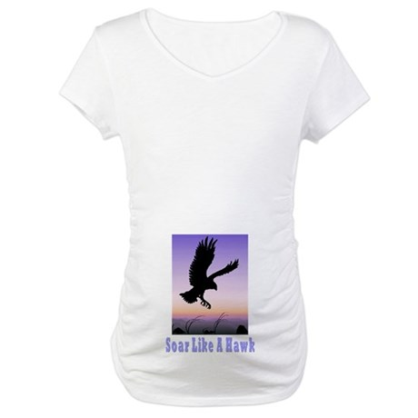 Flying High Soar Like A Hawk Maternity T-Shirt