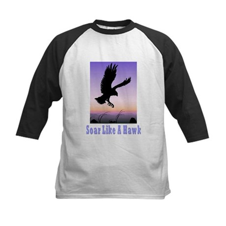 Flying High Soar Like A Hawk Kids Baseball Jersey