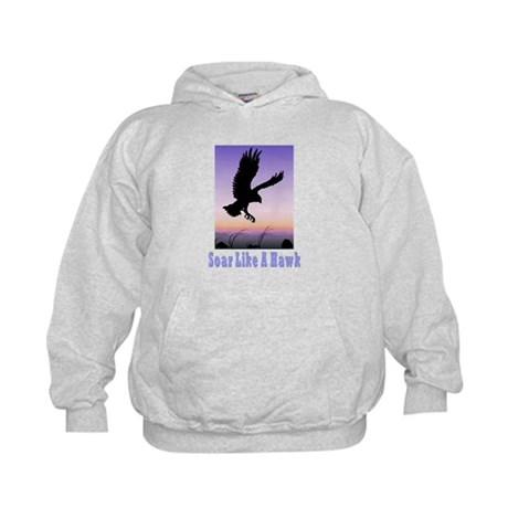 Flying High Soar Like A Hawk Kids Hoodie