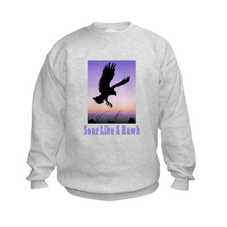 Flying High Soar Like A Hawk Kids Sweatshirt