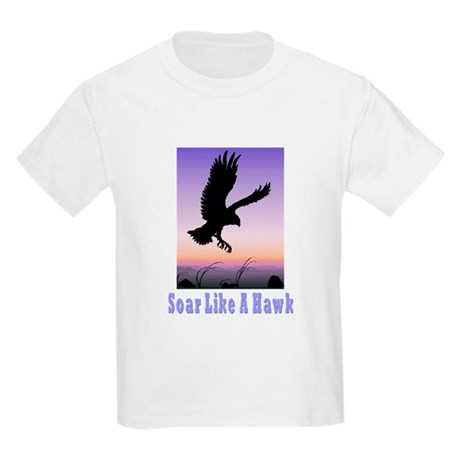 Flying High Soar Like A Hawk Kids Light T-Shirt