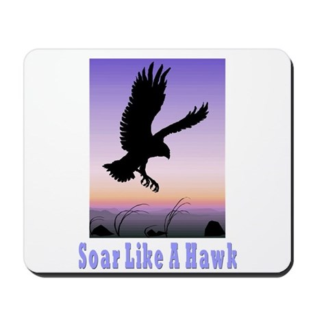 Flying High Soar Like A Hawk Mousepad