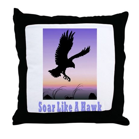 Flying High Soar Like A Hawk Throw Pillow
