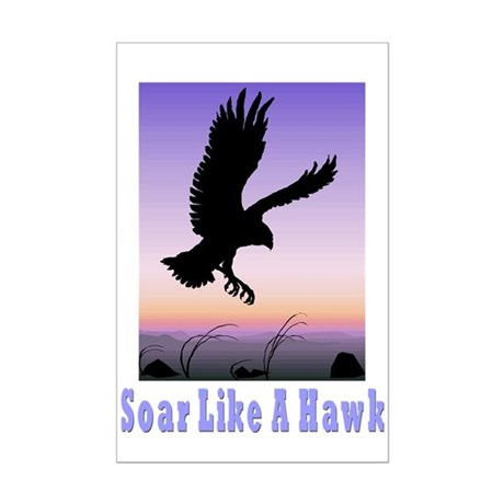 Flying High Soar Like A Hawk Mini Poster Print