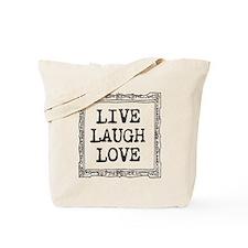 Vintage Live Laugh Love Tote Bag