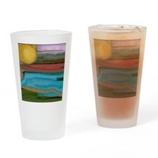 Abstract Sierra Sunrise Drinking Glass