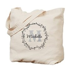 Personalized Vintage Monogram Bridesmaid Tote Bag