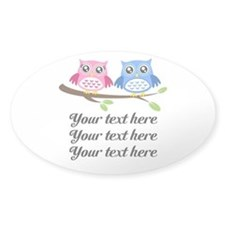 personalized add text Owls Decal