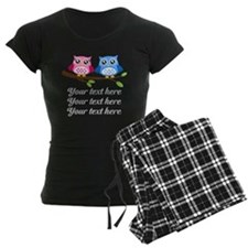 personalized add text Owls Pajamas