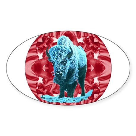 Buffalo Oval Sticker