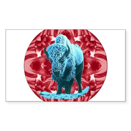 Buffalo Rectangle Sticker