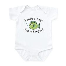 PopPop Says I'm a Keeper Infant Bodysuit