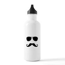 mustache_sticker.png Water Bottle