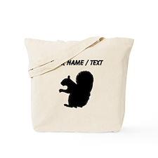 Squirrel Silhouette (Custom) Tote Bag