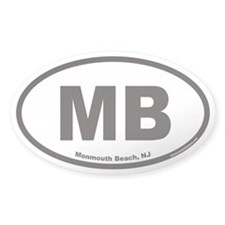 Monmouth Beach MB Euro Oval Decal